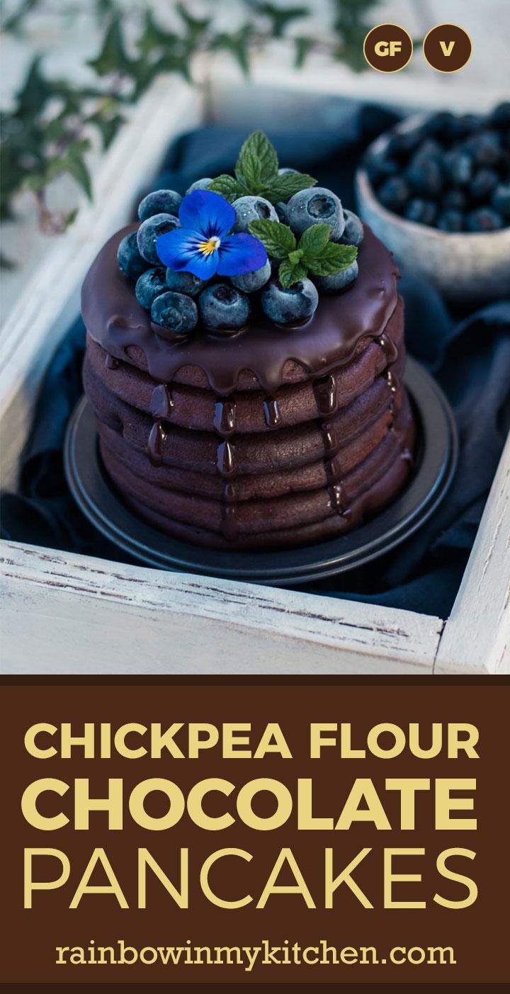 Chickpea flour chocolate pancakes
