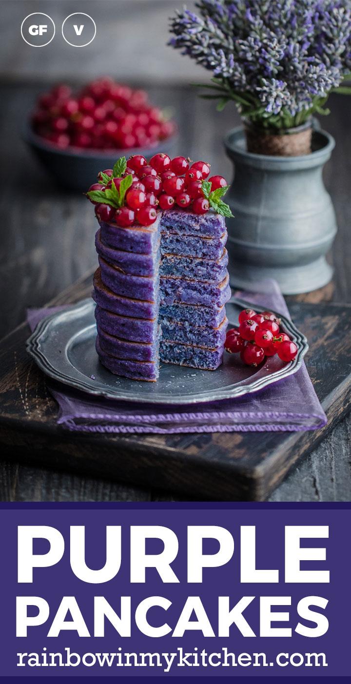 Gluten free purple pancakes